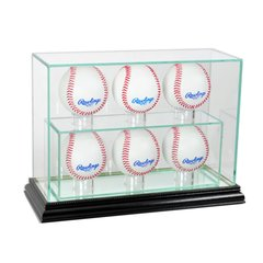 Upright 6 Baseball UV Blocking Glass Display Case
