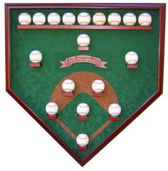 Create Your Own World Series Champions 18 Baseball Field View Display Case