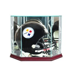 Octagon Football Helmet Glass Display Case