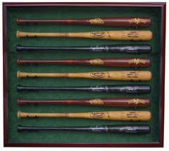Premium 9 Baseball Bat UV Protective Shadow Box Display Case