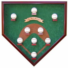Nine Ball Vintage Field Baseball Shadow Box Display Case