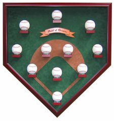 Eleven Ball Modern Field Baseball Shadow Box Display Case