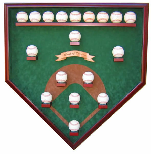 Eighteen Ball Vintage Field Baseball Shadow Box Display
