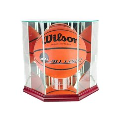 Octagon Basketball Glass Display Case
