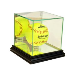 Single Softball Glass Display Case