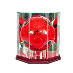 Octagon Soccerball Glass Display Case