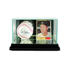 Card and Single Baseball Glass Display Case