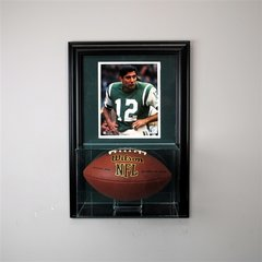 Football Display Case and 8 x 10 Frame