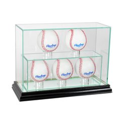 Upright 5 Baseball UV Blocking Glass Display Case