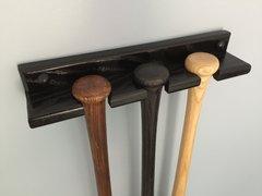 3 bat Vertical Baseball Bat Display Rack