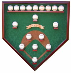 Eighteen Ball Vintage Field Baseball Shadow Box Display Case