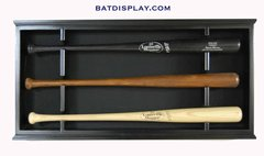 Wall Mounted Open Front Baseball Bat Display Case