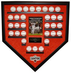 2014 World Series Champion San Francisco Giants 31 Baseballs Display Case