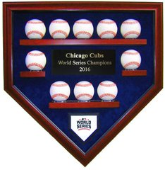 2016 World Series Champion Chicago Cubs 10 Baseball Display Case