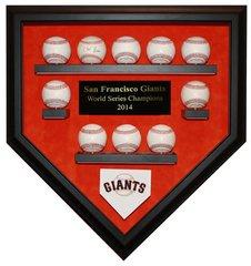 2014 World Series Champion San Francisco Giants 10 Baseball Display Case