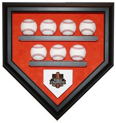 2014 World Series Champion San Francisco Giants 7 Baseballs Display Case