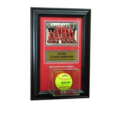 Individual Recognition Award Frame with Softball Case and Plaque