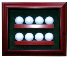 Premium Eight Golf Ball Shadow Box with UV protection