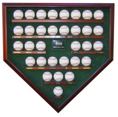 500 Home Run Club Homeplate Shaped Display Case