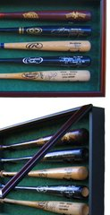 Premium Baseball Bat Display Cases Size 10 through 16 bats