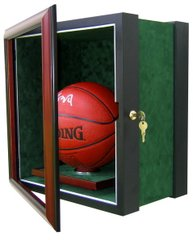 One Basketball Display Case