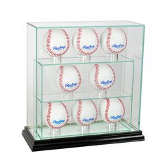 Upright 8 Baseball UV Blocking Glass Display Case