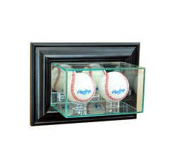 Wall Mount Double Baseball Glass Display Case