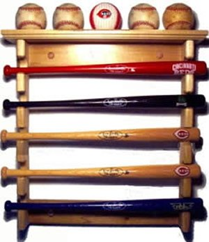 Stagg Sports Mini Baseball Bat Holder Mini Bat Rack