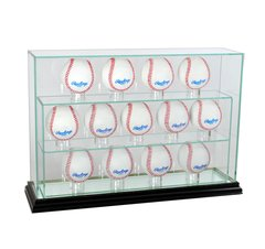 Upright 13 Baseball UV Blocking Glass Display Case