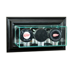 Wall Mount Triple Puck Glass Display Case