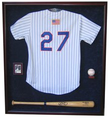 Jersey, One Baseball Bat, One Card, and One Baseball Display Case