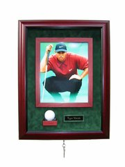 One Golf Ball, 8x10 Photo, and Engraved Nameplate Display Case