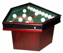 Field of Dreams Baseball Display Case End Table