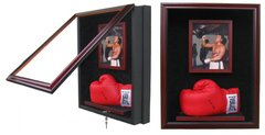 Boxing Glove Display Case with Photo Frame