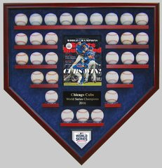 2016 World Series Champion Chicago Cubs 30 Baseballs Display Case