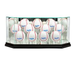 Octagon 11 Baseball Glass Display Case