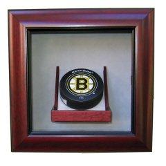 Single Hockey Puck Premium Display Shadow Box