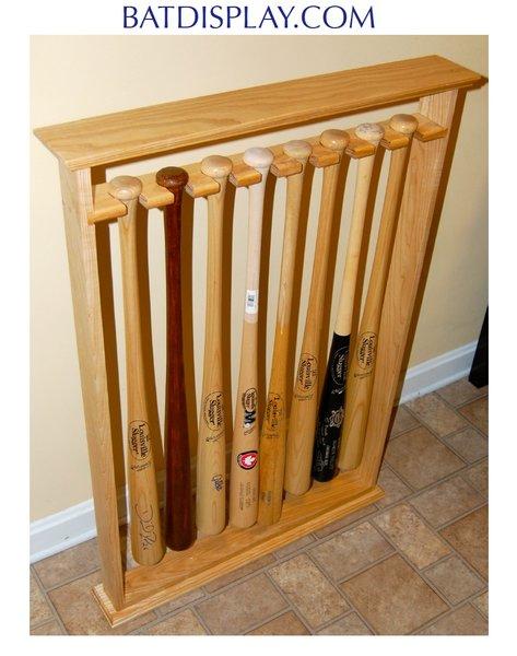 Eight Baseball Bat Floor Stand Display Rack Stagg Sports