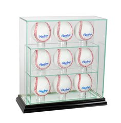 Upright 9 Baseball UV Blocking Glass Display Case