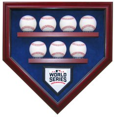 2016 World Series Champion Chicago Cubs 7 Baseballs Display Case