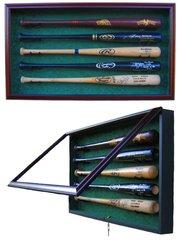 Premium 5 Baseball Bat UV Protective Shadow Box Display Case
