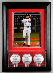Triple Baseball Display Case and 8 x 10 Frame