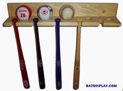 Mini Souvenir Baseball Bat and Baseball Vertical Bat Racks