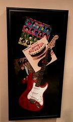 Electric Guitar and Album Display Case