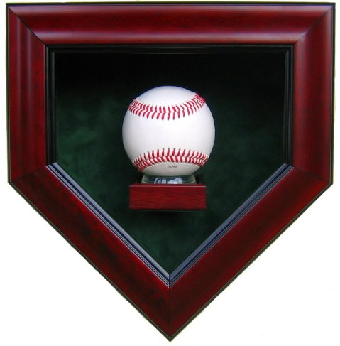 Homeplate Shaped Baseball Display Case Stagg Sports