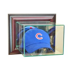 Wall Mount Hat Cap Glass Display Case