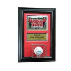 Individual Recognition Award Frame with Baseball Case