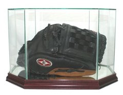 Octagon Baseball Glove Glass Display Case