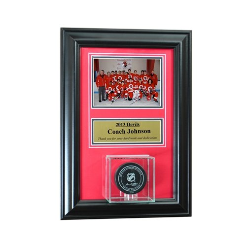Individual Recognition Award Frame With Hockey Puck