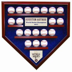 2017 World Series Champion Houston Astros 19 Baseball Display Case
